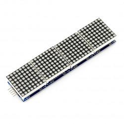 Matryca LED 32x8 + sterownik MAX7219 - niebieski