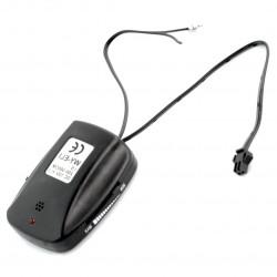 Kieszonkowa przetwornica step-up 12V WY-ELI-IS-200-300cm z czujnikiem dźwięku do przewodów EL