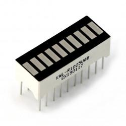 Wyświetlacz LED linijka - 10-segmentowy - bursztynowy