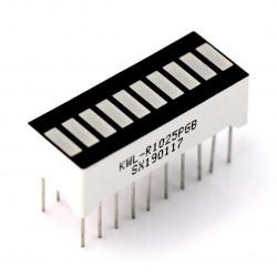 Wyświetlacz LED linijka - 10-segmentowy - zielony