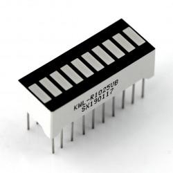 Wyświetlacz LED linijka - 10-segmentowy - czerwony
