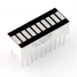 Wyświetlacz LED linijka - 10-segmentowy - biały