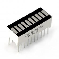 Wyświetlacz LED linijka - 10-segmentowy - żółty