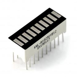 Wyświetlacz LED linijka - 10-segmentowy - limonkowy