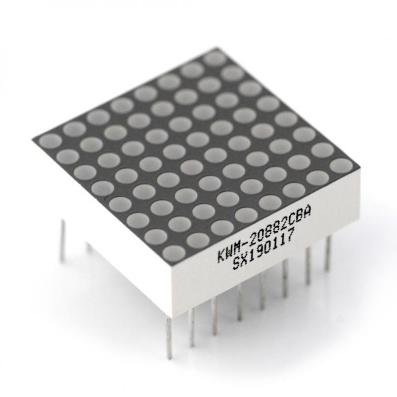 Matryca Matrix LED 8x8 0,8'' - mini 20x20mm - niebieska
