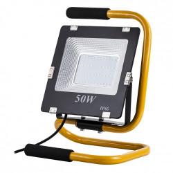 Lampa przenośna zewnętrzna LED ART, 50W, IP65, AC230V, 4000K + stojak + przewód 2m + wtyczka - biała naturalna