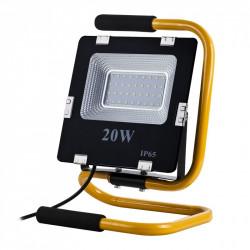 Lampa przenośna LED ART, 20W, 1400lm, IP65, AC230V, 4000K + stojak + przewód 2m + wtyczka - biały naturalny