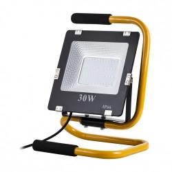 Lampa przenośna LED ART, 30W, 2100lm, IP65, AC230V, 4000K + stojak + przewód 2m + wtyczka - biały naturalny