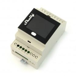 Shelly 4Pro - 4 kanałowy przekaźnik 230V WiFi z wyświetlaczem - aplikacja Android / iOS