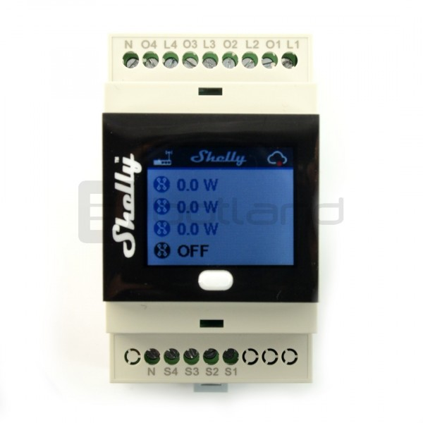 Shelly 4Pro - 4 chennels relay 230V WiFi with LCD screen - Android / iOS*