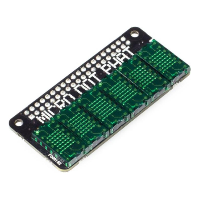 PiMoroni Micro Dot pHAT - 6 matryc LED 5x7 - nakładka dla Raspberry Pi - zielona