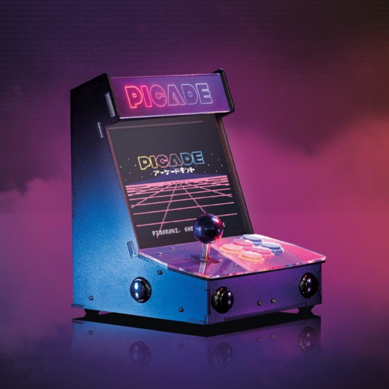 Picade Arcade Machine - retro automat z wyświetlaczem 10'' - nakładka + akcesoria dla Raspberry Pi 4B/3B+/3B/2B/Zero