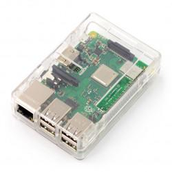 Obudowa Raspberry Pi Model 2/B+ - przezroczysta