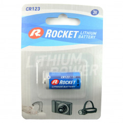 Rocket high power lithium 123 batteries 3V