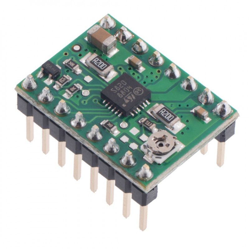 STSPIN820 Stepper Motor Driver Carrier with headers - Pololu 2879