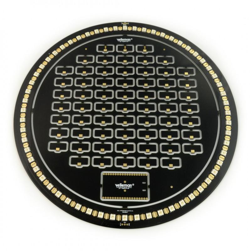 Velleman K2400B Brightdot Clock kit - LED ESP32 - black_