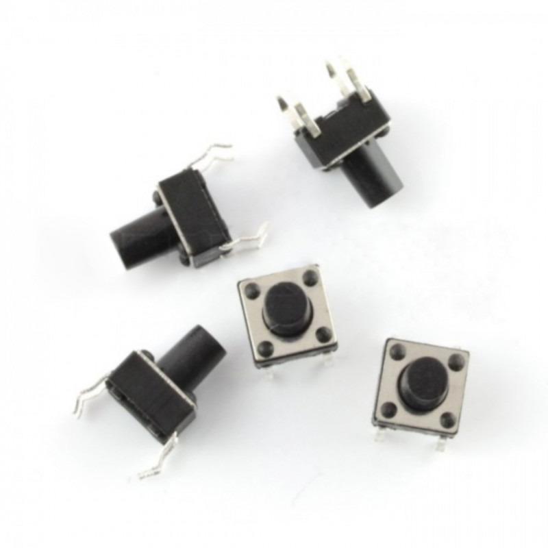 Tact Switch 6x6mm / 8mm THT - 5pcs