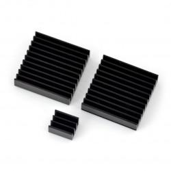 Zestaw radiatorów do Raspberry Pi RPI-Coolkit.9 z taśma termoprzewodzącą - czarny
