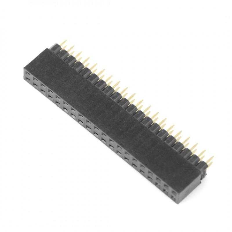 Gniazdo żeńskie 2x20 raster 2,54mm dla Raspberry Pi