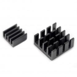 Zestaw radiatorów 2x z taśmą termoprzewodzącą - czarne