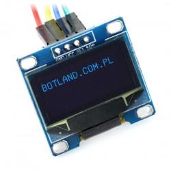Wyświetlacz OLED niebieski graficzny 0,96'' 128x64px I2C