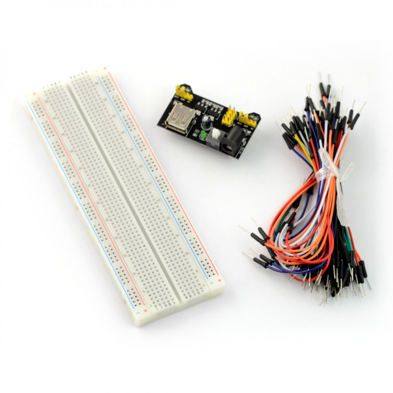 Set of breadboard 830 + cables + power module