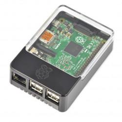 Obudowa Raspberry Pi Model 3/2/B+ Pi Hat ze zdejmowaną klapką - czarna