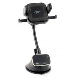 FM 4in1 car transmitter - ART FM-09BT - set. hands-free, charger ind. handle