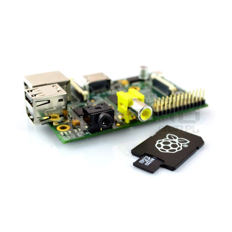 Raspberry Pi Model B 512MB RAM z kartą pamięci + system