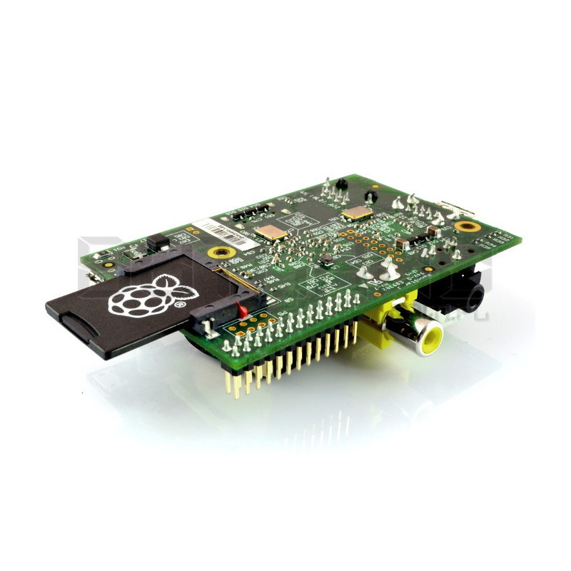 Raspberry Pi model B z kartą micro SD 8GB
