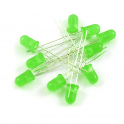 Dioda LED 5mm zielona - 10 szt.