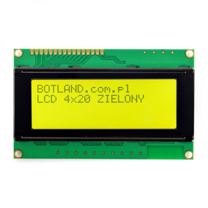 LCD display 4x20 characters green_