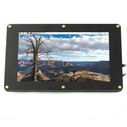 """Ekran Seeed studio LCD IPS 7"""" 720x1280px HDMI + USB dla Raspberry Pi 3B+/3B/2B/Zero obudowa czarna"""