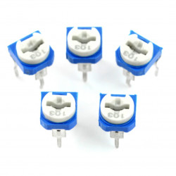 The 10kΩ potentiometer mounting lying - 5pcs.