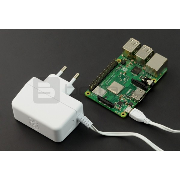 Zasilacz microUSB 5,1V / 2,5A do Raspberry Pi 3B+/3B/2B/Zero oryginalny  T6712DV - biały