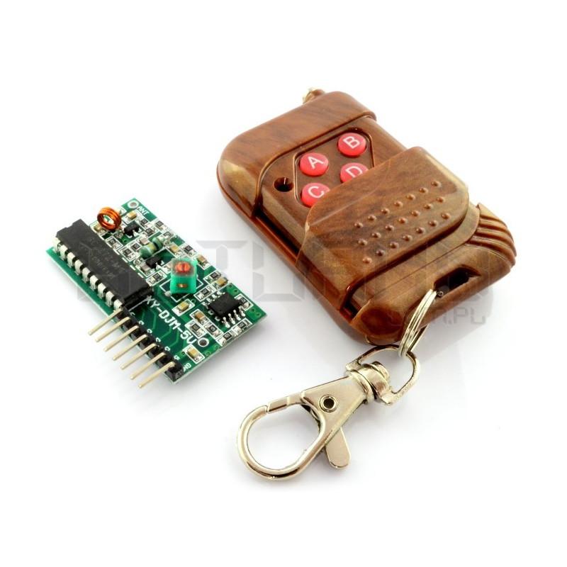 Radio module 4-channels 315MHz + remote control