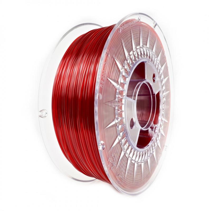 Filament Devil Design PET-G 1,75mm 1kg - Ruby Red Transparent