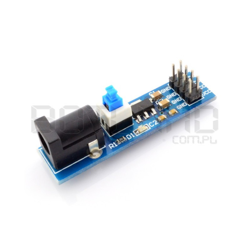 Supply module with DC jack and 3.3V power switch