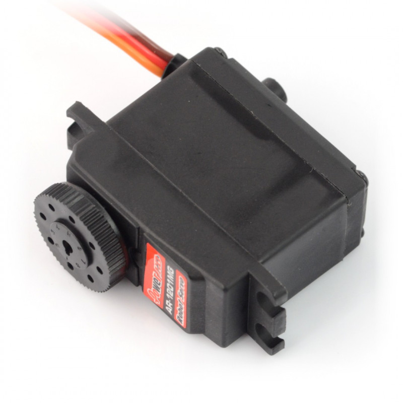 Servo PowerHD AR-1201MG - continuous work 360 degrees with doublesided mount_