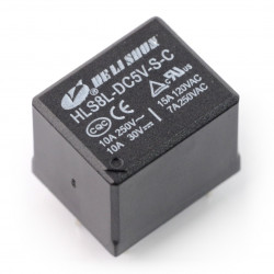 Relay HLS8L-DC5V-S-C - 5V coil, contacts 2x 15A/120VAC