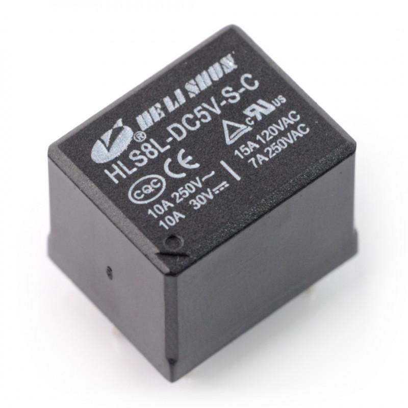 HLS8L-DC5V-S-C relay - 5V coil, 2x 15A / 120VAC contacts*