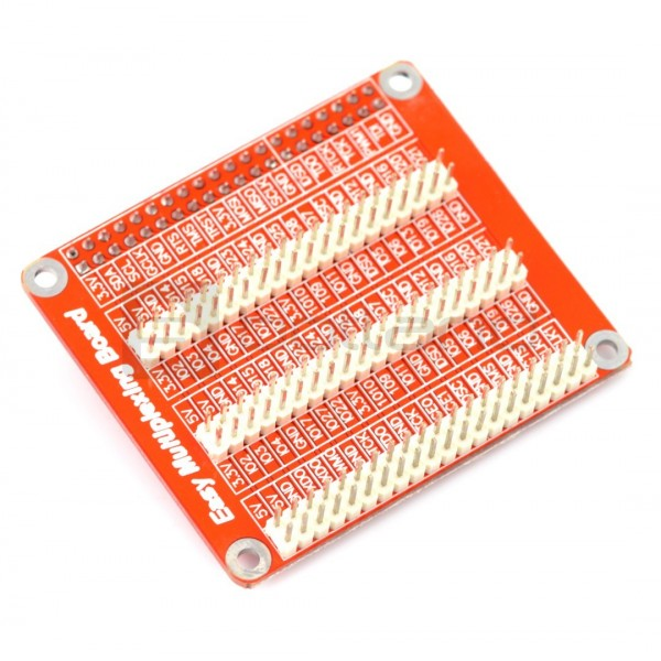 Expander pins GPIO Hat - overlay for Raspberry Pi 3/2 / B + - red*