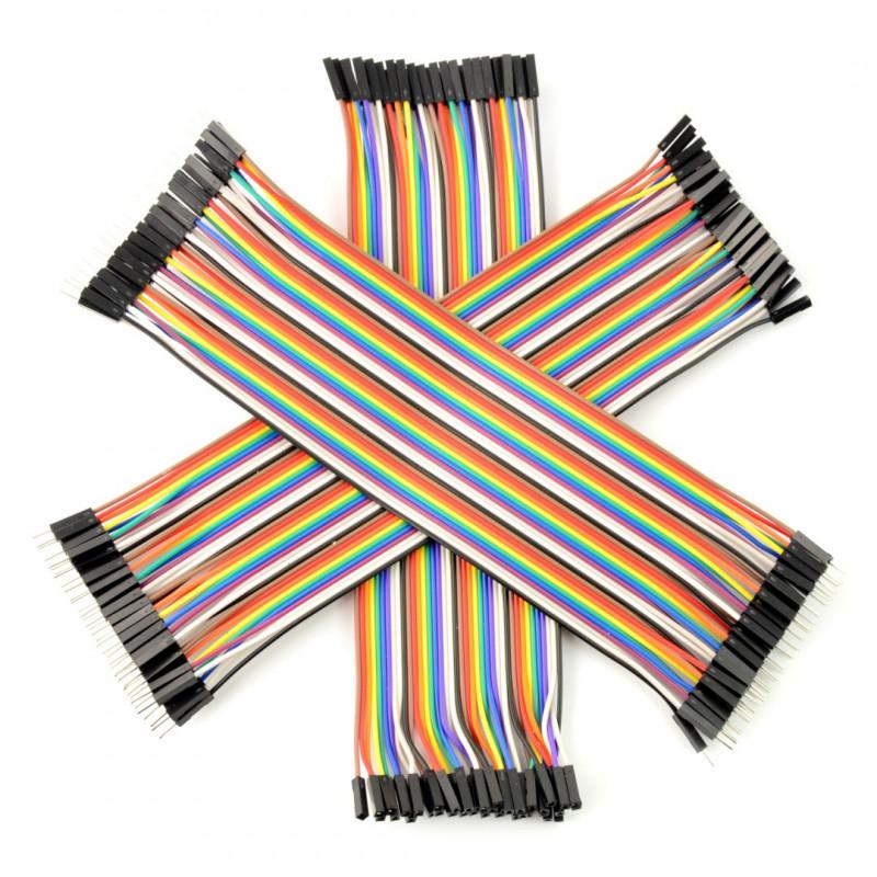 Zestaw przewodów połączeniowych 20cm 3 x 40szt. m-m, ż-ż, m-ż (120szt.)