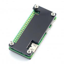 Obudowa Raspberry Pi Zero - Fluo Open - czarna