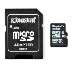 Karta pamięci Kingston microSD / SDHC 16GB 300x UHS-I klasa 10 z adapterem