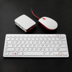 Zestaw Raspberry Pi 3 B+ WiFi - z obudową oraz klawiaturą i myszką czerwono-białą