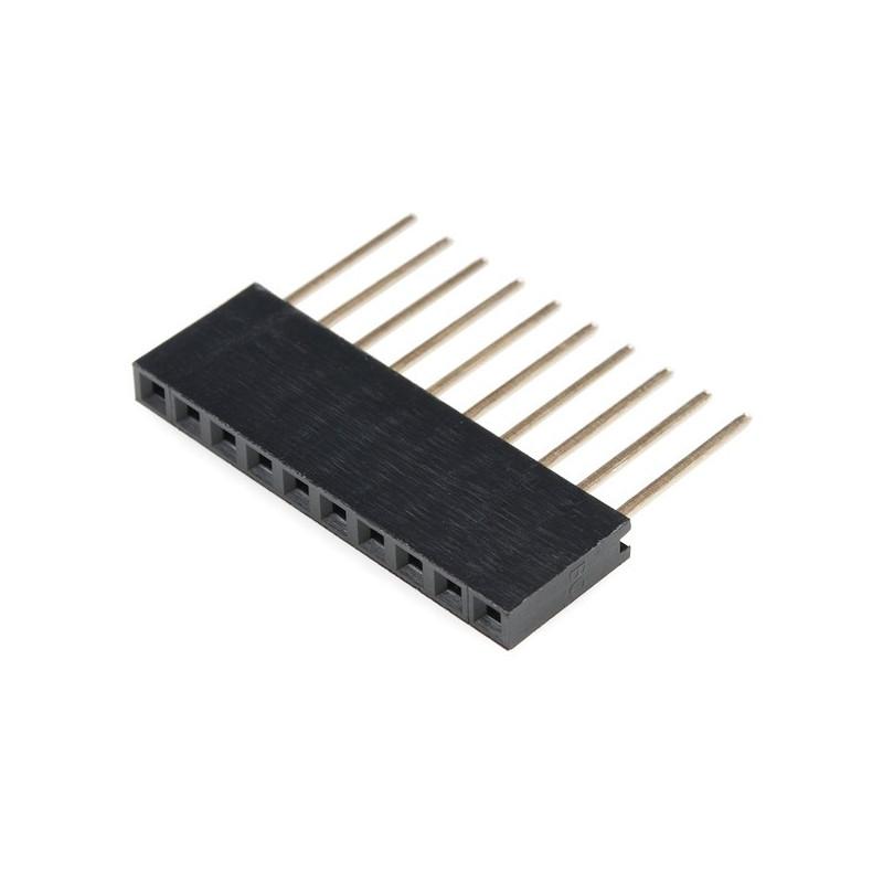 Gniazdo żeńskie przedłużone 1x10 raster 2,54mm dla Arduino