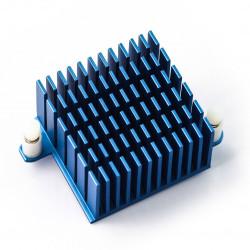 Radiator dla Odroid XU4 wysoki 40x40x25mm - niebieski