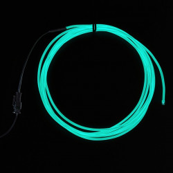 High Brightness Aqua Electroluminescent (EL) Wire 2,5m