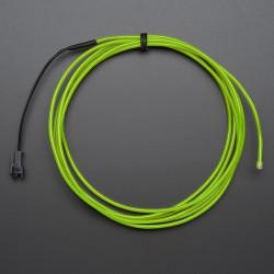 Przewód elektroluminescencyjny 2,5m - zielony